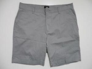 H&M Flat Front Shorts 33 Gray Grey Summer Light Casual Cotton Chino