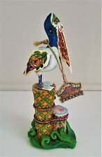 """2004 Jim Shore Signed Seaside Sentinel Pelican Figurine 8.6"""" tall with Box"""