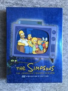 The Simpsons - The Complete Fourth Season (DVD, 2009, 4-Disc Set) Exc Cond