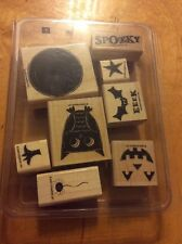Stampin' Up! rubber stamp set What a Hoot Halloween Jack O' Lantern Owl Bat