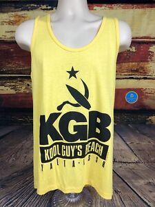 Mens VINTAGE 80s 90s KGB KOOL GUYS BEACH Russia Muscle Gym Tank Top SZ L USA NWT