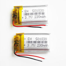 2 pcs lipo Polymer rechargeable Battery 230mAh 3.7V For Mp3 GPS bluetooth 501830