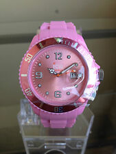 newstuffdaily: NIB ICE Forever Collection Pink Silicone Strap Big Watch