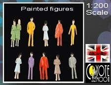 1:200 Scale Architecture Model Figures / People - Painted  Pack 100 UK SELLER