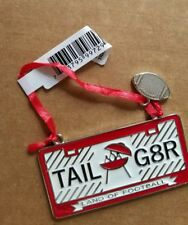 "NWT Hallmark ""TAILGATER"" TAIL G8R FOOTBALL LICENSE PLATE METAL Ornament"