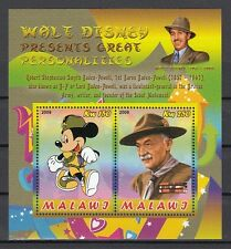 Malawi, 2009 Cinderella issue. Scout Baden Powell sheet of 2.