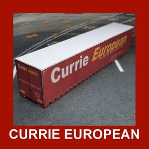 Currie European Model Rail Freight Shipping Containers x 5 HO 45ft Gauge 1:87