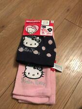 Nuevo Hello Kitty Niños Sombrero Y Bufanda Conjunto (sin guantes)