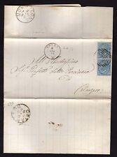 STORIA POSTALE Regno 1878 Piego da Arena a Catanzaro (FILq)