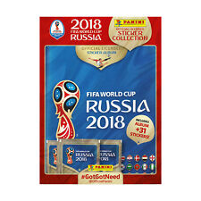 World Cup 2018 Sticker Starter Pack Panini FIFA Album Stickers Collector 5 Packs