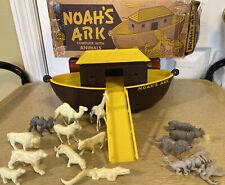 Vintage MARX Noah's Ark Toy Set In Original Box RARE