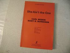 uncorrected proof SHE AIN'T THE ONE book CARL WEBER MARY B MORRISON 1st SC 2006