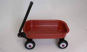 Little Red 12 Inch Wagon Miniature Toy- Steel Body