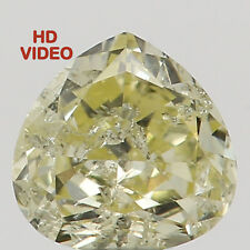 0.14 Ct Natural Loose Diamond Cut Heart Yellow Color 3.40X3.30X1.80 MM I2 N5328