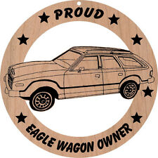AMC Eagle Wagon Without Wood Sides Wood Ornament Engraved