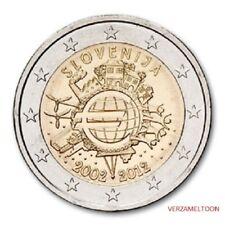"SLOVENIE SPECIALE 2 EURO 2012 UNC:  ""10 JAAR EURO"""