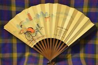 Vtg Advertising THE ORIENT Imports of Oriental Goods Hollywwod Bivd Paper Fan