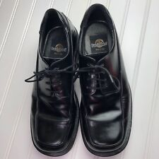 BACCO BUCCI Mens Black Leather Oxford Dress Casual Shoes Tie Lace Italy Made