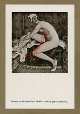 Karl Ziegler Susanna dans la salle de bains femme acte érotique antique Droit Justice Königsberg 1927