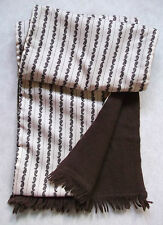 MENS VINTAGE SCARF THINLY LINED RETRO MOD 1970'S SAMMY BROWN CREAM WOOL PAISLEY