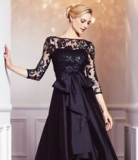 $229 Nwt Adrianna Papell Sequin Illusion High Low Taffeta Gown Formal Dress 4