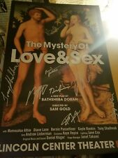 The Mystery of Love & Sex Signed Broadway Poster Diane Lane Tony Shalhoub RARE