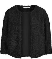 Bishop + Young Womens Jacket Classic Black Size Medium M Faux Fur $105 964