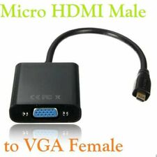Micro HDMI Male to VGA Female Video Cable Adapter Lead for Phone Projector Table