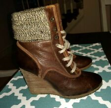 Chloe Wedge Boots Size 36.5