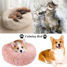 Pet Dog Cat Warm Calming Bed Soft Plush Round Nest Sleeping Bag Flufy Nest Us