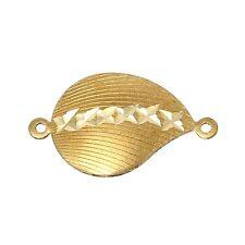 5x joyas conector muschelform 13x22mm de cobre bricolaje DIY joyas conector