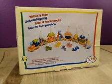 Toys Pure Wooden Birthday Train Made in Germany Sealed Box Shows Ware