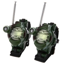 2PCS Walkie Talkie Watches Outdoor Two-Way Radio Interphone Kids Children Toy