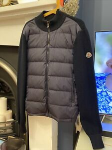 Boys Moncler Zip Up Cardigan / Padded Jacket With Real Down
