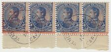 1800's Venezuela - Simon Bolivar - Block 4 x 5 Centimos Stamps