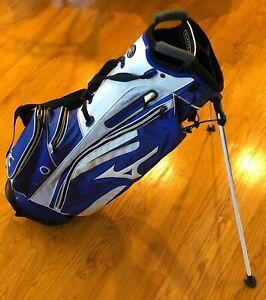 Mizuno Tour Series Blue/White Carry/Stand Golf Bag Good Condition