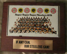VINTAGE PITTSBURGH STEELERS 1979 SUPER BOWL BEER CAN PLAQUE RARE