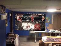 HUGE! 47x26 GORDIE HOWE Vinyl Banner POSTER Detroit Red Wings wayne gretzky ART
