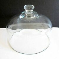 "Heavy Glass VTG Cheese Dessert Plate Replacement Dome Lid Cover 6 3/8"" FREE SH"