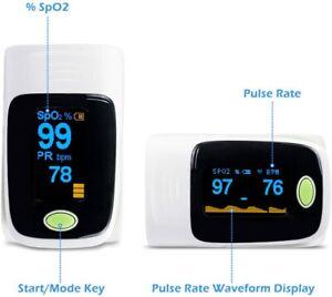 Pulse Oximeter Blood Oxygen Saturation SpO2 Meter PR Fingertip Oxymeter OLED UK
