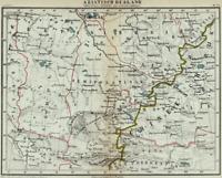 Lake Balkhash Ili River Issyk Kul Kazakhstan Asian Russia - 1882 Old Color Map