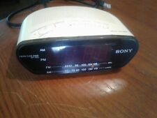 Sony Dream Machine Digital Radio Alarm Clock Red Numbers.Missing battery cover