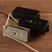 Handwound P bass pickup set fit Fender precision bass. AlNiCo5 Gray fiber