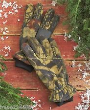 Thinsulate Camo Fleece Water Resistant Mens Gloves Hunting Fishing Sz L-XL NWT