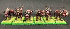 6 x Chaos Daemons Flesh Hounds of Khorne (b) well painted metal models OOP
