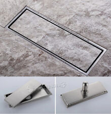 304 Stainless Steel High quality 300MMx110MM Bathroom Shower Square Floor Drain