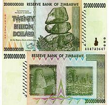 ZIMBABWE 20 Billion Banknote World Paper Money XF- Currency Pick p-86 Inflation
