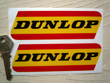 DUNLOP Red Yellow 125mm classic car motorcycle stickers