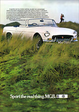 MG MGB 1971 RETRO POSTER A3 PRINT FROM CLASSIC ADVERT