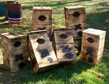 WOOD DUCK,House.NESTING.Box.Fire hardened wood.LASTS 2-5 YRS LONGER.M. HOLLEY